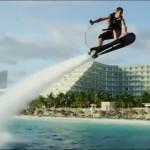 夏を楽しむスポーツ! 空飛ぶサーフィン!青い海青い空をホバーボード飛び回ろう