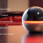 監視カメラにもリモコンにもスピーカーにもなるオシャレな球体