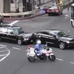 白バイが事故誘発!?驚いた車が急停止で事故発生!